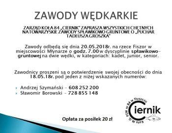 Zawody Spławikowo-Gruntowe o Puchar Tadeusza Groszka